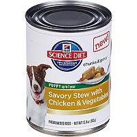 Hill's Science Diet Savory Stew with Chicken & Vegetables Puppy Canned Dog Food, 12.8 oz, Case of 12