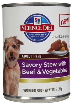 Hills Pet Nutrition Science Diet Savory Stew Beef Can Dog Food 12 Pack