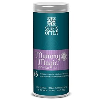 Mummy Magic Weight Loss Organic Tea, Friut Flavor, Postpartum Energy, 20 Unbleached Tea Bags 40 Servings, Naturally Increase Metabolism, Improves Energy and Digestion. Available in 5 Flavors [Mummy Magic Weight-Loss Tea]