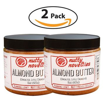 Nutty Novelties Classic Almond Butter - High Protein, Sweet Almond Butter - No Added Sugar - All-Natural, Pure Almond Butter Free of Cholesterol & Preservatives - Vegan Almond Butter - 30 Ounces [All-Almonds]