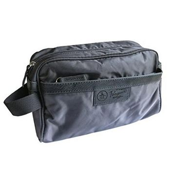 Penguin by Munsingwear Charcoal Gray Men's Travel Toiletry Shave Kit Charger Bag