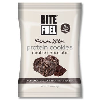 Bite Fuel Llc Bite Fuel, Power Bites, Double Chocolate Protein Cookies, 3 Oz