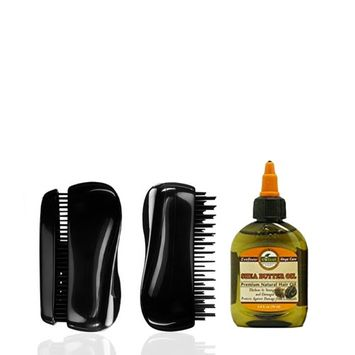 Medex Mens Pocket Sized Beard Maintenance Palm Brush with Luxurious Shea Butter Oil Grooming Kit