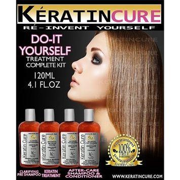 Keratin Cure Brazilian Bio Chocolate 5 Piece Kit Professional Complex Coconut Argan Oil Aminos Blow Out Hair Treatment Formaldehyde Free