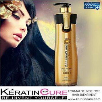 keratin cure 0% formaldehyde gold & honey bio-brazilian professional hair treatment 960 ml /32.5 fl oz -keratina brasilera tratamiento queratina pelo liso creamy formula