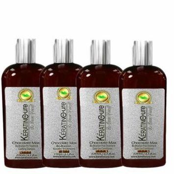 Keratin Cure 0% Formaldehyde Bio-Brazilian Hair Treatment Chocolate 4 oz 120 ML