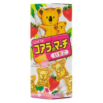 Lotte Koala's March Strawberry Cream Biscuits