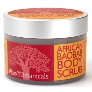 Planet Botanicals Baobab Foaming Body Scrub, 8 Fluid Ounce