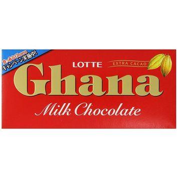 Lotte Ghana Milk Chocolate Bar, 1.94 Ounce