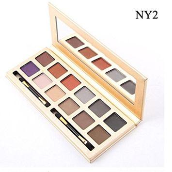 RNTOP 12 Colors Eyeshadow Palette Luxury Golden Matte Nude Eye Shadow Palettes (B)