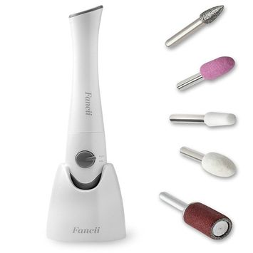 Fancii Professional Electric Manicure & Pedicure Nail File Set with Stand - The Complete Portable Nail Drill System with Buffer, Polisher, Shiner, Shaper and UV Dryer