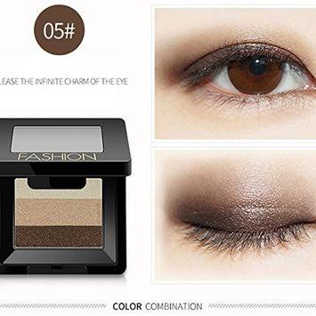 RNTOP 3Colors Eyeshadow Cosmetic Makeup Neutral Nudes Warm Eye Shadow Palette