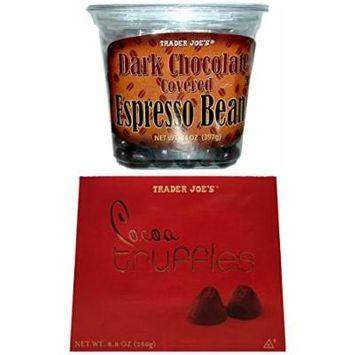 Trader Joes Chocolate Covered Espresso Beans and Cocoa Truffles