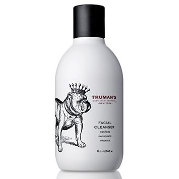 Truman's Gentlemen's Groomers - Men's Facial Cleanser - Peppermint & Eucalyptus Oils, Hydrating & Exfoliating Manly Face Wash - Removes Sweat & Dirt