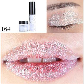 RNTOP Shimmer Glitter Lip Gloss Powder Palette Glitter Lipstick Cosmetic Eye shadow
