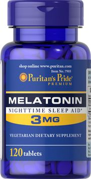 Puritan's Pride Melatonin 3 mg