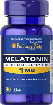 Puritan's Pride Melatonin 1 mg-90 Tablets