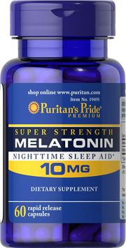 Puritan's Pride Melatonin 10 mg-60 Capsules