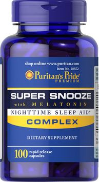 Puritan's Pride 2 Units of Super Snooze with Melatonin-100-Capsules