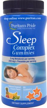 Puritan's Pride Sleep Complex Gummy with Melatonin & L-Theanine-60 Gummies