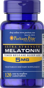 Puritan's Pride Melatonin 5 mg-120 Tablets