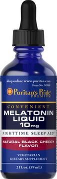 Puritan's Pride Melatonin Black Cherry Liquid 10 mg-2 oz Liquid