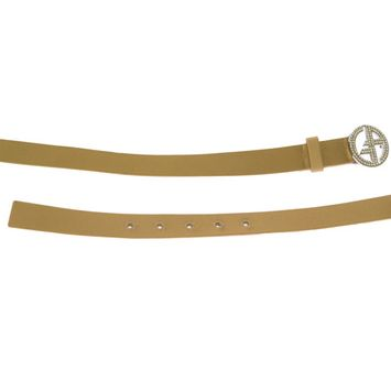 Giorgio Armani Women's Silk/Leather Belt