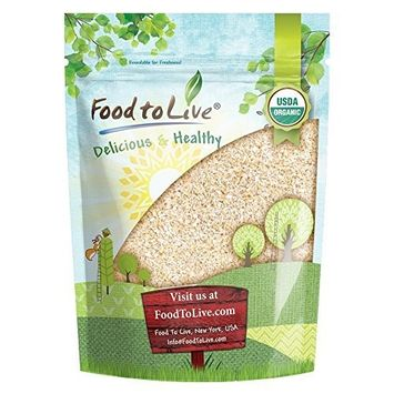 Organic Oat Bran by Food to Live (Non-GMO, Raw, High Fiber Hot Cereal, Milled from High Protein Oats, Vegan, Bulk, Product of the USA) — 12 Ounces