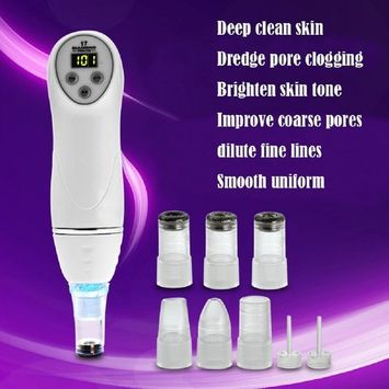 Microdermabrasion Vacuum Suction Blackhead Removal Skin Peeling Diamond Dermabrasion Facial Pore Cleansing Beauty Care Massager