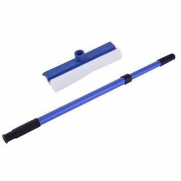 Double faced wipe glass cleaner thick wipe window cleaner Handle Adjustable Windshield Window Glass Wash Cleaner Brush, Blue