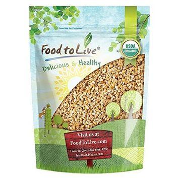 Food to Live Organic Pearled Barley (Non-GMO, Kosher, Vegan, Raw, Bulk Grain, Product of the USA) — 1 Pound