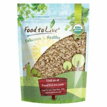 Organic Rolled Oats by Food to Live (Old-Fashioned, 100% Whole Grain, Non-GMO, Bulk, Product of the USA) — 2 Pounds