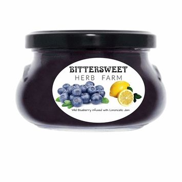 Bittersweet Herb Farm Gourmet Wild Blueberry infused with Limoncello Jam 10.5oz