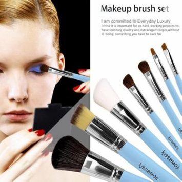 7 pcs Pro Makeup brushes sets Cheap Blending Eyeshadow Foundation Lip Cosmetics Too+Carry Case Elst