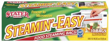 Stater Bros. Steamin'-Easy Medium Food Steaming Bags 10 Ct Box