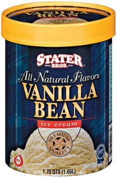 Stater Bros. Vanilla Bean Ice Cream 1.75 Qt Tub