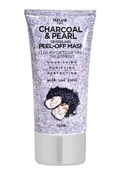 azure LUX Charcoal And Pearl Sparkling Peel-Off Face Mask