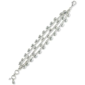 Silver-Tone Scallop Link Bracelet