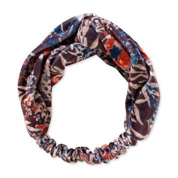 Floral-Print Velvet Headband, Created for Macy's