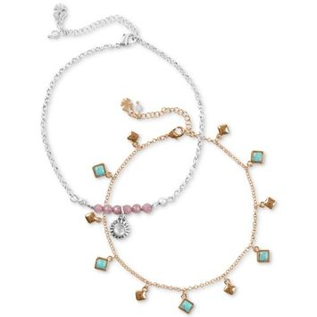 Two-Tone 2-Pc. Set Anklet, Created for Macy's