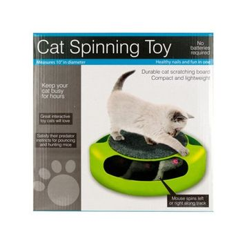 Sunrise Cat Scratch Pad Spinning Toy With Mouse