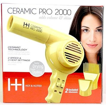 Hot & Hotter Ceramic Pro 2000 Hair Dryer Blower Faster Drying Faster Styling