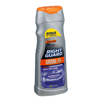 Right Guard 5-in-1 Deodorizing Hair & Body Wash Total Defense 5 Hydrating