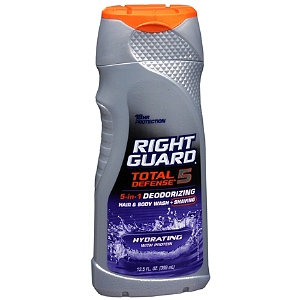 Right Guard Total Defense 5 5-in-1 Deodorizing Hair & Body Wash