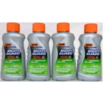 Right Guard Total Defense - 5, 5-in-1 Deodorizing Body Wash, Refreshing With Electrolytes, 2 Fl. Oz. (Value Bundle) by Right Guard