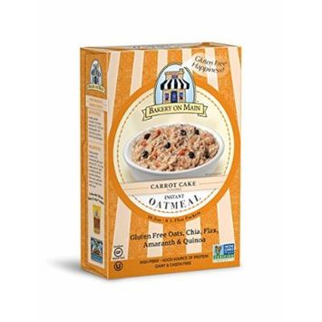 Bakery on Main Gluten Free Non-GMO Instant Oatmeal, Carrot Cake, 10.5-Ounce (Pack of 3)