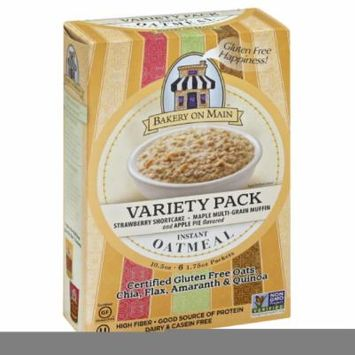 BAKERY ON MAIN OATMEAL INSTANT 3 VARIETY PACK, 10.5 OZ (Pack of 6)