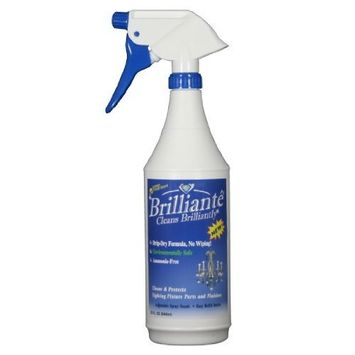 Brilliante Crystal Chandelier Cleaner Manual Sprayer 32oz Environmentally Safe, Ammonia-free, Drip-dry Formula, Made in USA (1)