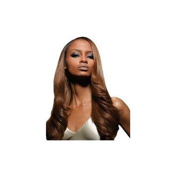 Velvet Remi Human Hair Weave - Yaki Weaving (10 inch, F1B/30 - Off Black/Medi...