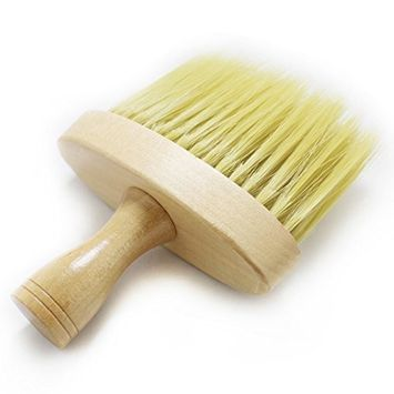 Kapmore Haircut Cleaning Brush Wooden Neck Brush for Hair Cutting